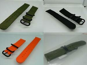 20mm Quality Canvas Heavy Duty Watch Straps,Metal Keepers In Black ,Lugs,Various