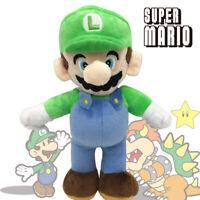 "10"" Cute Luigi Figures Super Mario Bros Stuffed Kids Toy Plush Soft Doll"