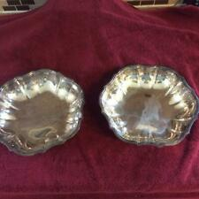 """Two Vintage Chippendale Silver Plate Int'l Silver Company Dish 678 10"""" Diameter"""
