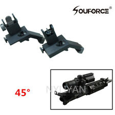 Front&Rear 45°Offest BUIS QD Rapid Transition Iron Sight For 20mm Rail Rifle