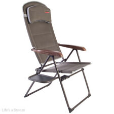 Quest Naples Pro Recline chair with side table. For camping, caravan, motorhomes