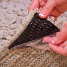 4Pcs Pack Rug Carpet Mat Grippers Non Slip Anti Skid Reusable Silicone Grip US