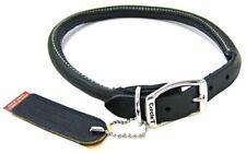 "LM Circle T Pet Leather Round Collar - Black 20"" Neck"