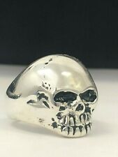 925 Sterling Silver Keith Richards Skull / Gothic Biker / Free Sizing & Shipping