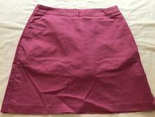 Women's ADIDAS Golf LONG Stretch Skort 915821 Pastel Ladies Cotton Magenta NEW
