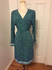 NWT Michael Kors Blue Print Wrap Dress Size 0X