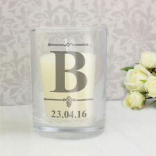 Personalised Initial Votive Candle Holder Birthday Funeral Memorial New Baby Him