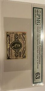 5 Cent Third Issue Fractional Currency FR#1237 PMG 63