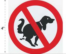 No Dog Poo Vinyl Sticker Decal Warning Safety Sign Store Office Building Home