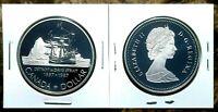 Canada 1987 Davis' North West Passage Proof Gem UNC Silver Dollar!!