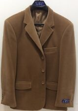 BLU MARTINI MEN'S BLAZER,CAMEL COLOR, CASHMERE TOUCH,3 BUTTON,44R,NEW WITH TAGS!