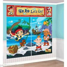 JAKE AND THE NEVER LAND PIRATES PARTY SUPPLIES SCENE SETTER / BACKDROP