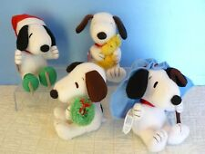 "Charlie Brown PEANUTS -Lot of 4 ~SNOOPY~ 6"" PLUSH CHRISTMAS w/ Tags- HALLMARK"