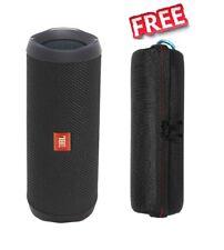 JBL Flip 4 Bluetooth Lautsprecher - Schwarz + Case