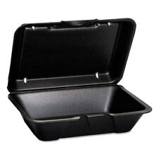 Genpak Hinged-Lid Foam Carryout Containers Deep 9 1/4x6 1/2x2 7/8 100/Bag 2 Bg