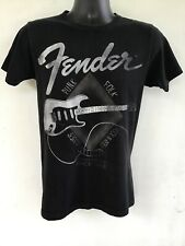 Fender Guitar T Shirt Mens Small Black With Graphics