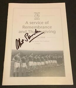 Manchester United Munich Disaster 50th Anniversary Service Signed Albert Scanlon
