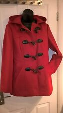 BEAUTIFUL BRIGHT RED DUFFLE COAT by GEORGE - UK SIZE 10