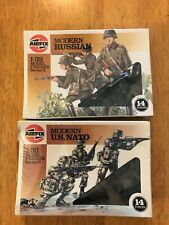 Vintage Airfix 1/32 Scale Modern Russian & US Nato 1 ea in sealed boxes