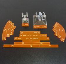 Star Wars X Wing Movement Templates Florescent Acrylic Orange