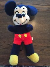 "VINTAGE WALT DISNEY CALIFORNIA STUFFED TOYS 15"" MICKEY RARE NAVY BLUE W TAIL!!"