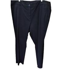 Lane Bryant Women 26W Short Plus Pants Black Bootcut Stretch Flat Front Pockets