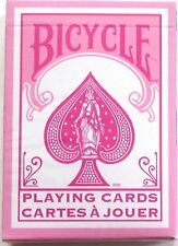 US Playing Cards Bicycle Pink Rider Back Playing Cards Rare Discontinued Deck