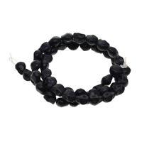52x schwarz geschnitzte Schädel lose Perlen für Schmuck Herstellung DIY