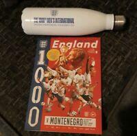 LAST ONE!!! England V Montenegro @Wembley. Official Programme & Water bottle