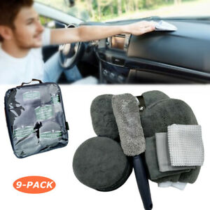 9 PCS Cleaner Tool Set for Car Motorcycle Cleaning Wheels Dashboard Leather Seat
