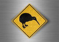 Autocollant sticker laptop macbook panneau route attention kiwi nouvelle zelande