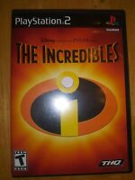Disney Pixar The Incredibles Sony PlayStation 2 2004 PS2 Tested