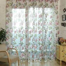 Curtain Beige Purple Window Treatments Curtains Peony Flowers Window Tulle