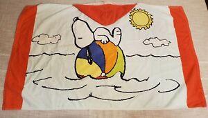 Pottery Barn Kids PEANUTS SNOOPY Hooded Towel Bath Wrap Bathroom Beach GIFT