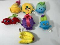 Lot Of 7 Shopkins Plush Stuffed Fruits Moose Enterprise 2013 VG Condition