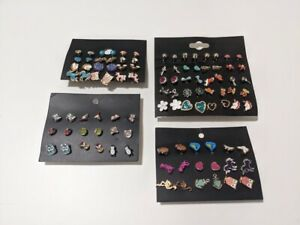 50x Pack Kids Toddler Earrings Fashion Cute Pictures