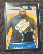 2014 WWE Topps MARK HENRY Shirt Relic Trading Card NM 9.4