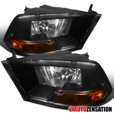 09-17 Dodge Ram 1500/2500/3500 All Models Black Crystal Headlights RH LH