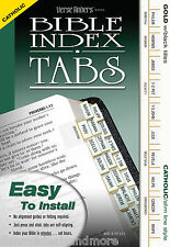 Catholic Bible Index Book Tabs Gold Slim - Full Set EZ Install - OT, NT, Canons
