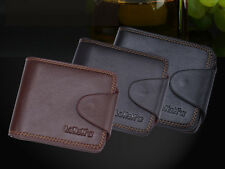 Mens Luxury Quality Soft Real Leather Wallet Credit Card Holder Purse 3 Colours