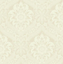 Traditional High End Victorian Damask Nude Tan Earth Double Roll Wallpaper
