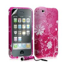 Housse étui coque en gel pour Apple Iphone 3G 3GS avec motifs + mini stylet + fi