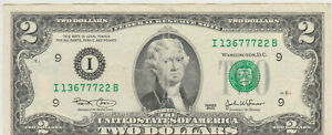2009  x3 ✯Lightly Circulated Two Dollar Bill $2 Note Non Consecutive Lot Fancy