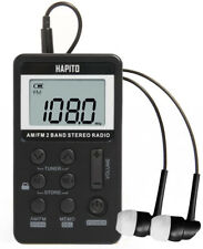 [Upgraded Version] HAPITO AM FM Pocket Radio Portable Digital Tuning Stereo and