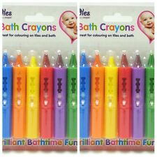 12 x BATH CRAYONS Washable Crayon Kids Baby Bath time Paints Drawing Pens Toy UK