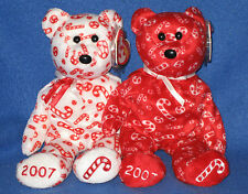 TY CANDY CANES the BEAR SET - MINT with MINT TAGS