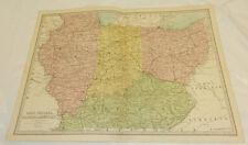 "1878 Antique Color Map/ In, Il, Ky /Large 12.5x17"", Plus Index Pages"