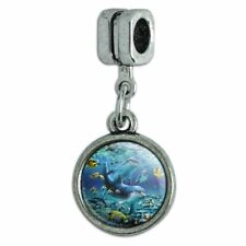 Coral Reef Diving Dolphin Pals Diving Italian European Style Bracelet Charm Bead
