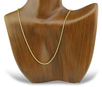 1.55 mm Wide Wheat Chain Italian Made 14k SOLID Yellow Gold 16 in Long