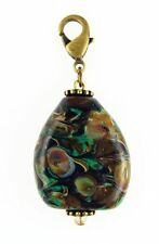 "Fenton Art Glass Hand Crafted PENDANT ""CAVERN'S EDGE"" .925 Bead for Necklace"